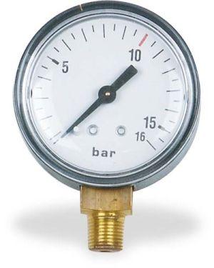 """Medidor de presión Ø 40 mm 1/4"""" toma trasera, 15 bares"""