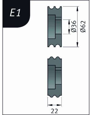 RODILLO PARA SBM140-12  TIPO- E1