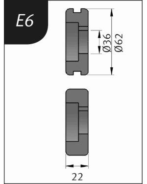 RODILLO PARA SBM140-12  TIPO- E6