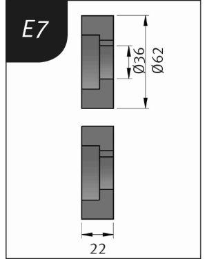 RODILLO PARA SBM140-12  TIPO- E7