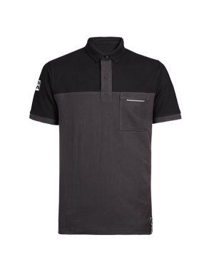 Polo Básico Gris y Negro  1405 Carson Talla L