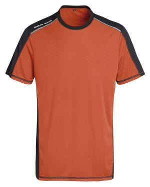 Camiseta Técnica Naranja y Negra  1416 Halley Talla XL