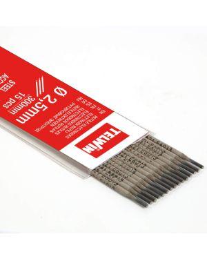 Kit electrodos rutilo 2,5 mm. 15 Piezas Ø 2,5 mm